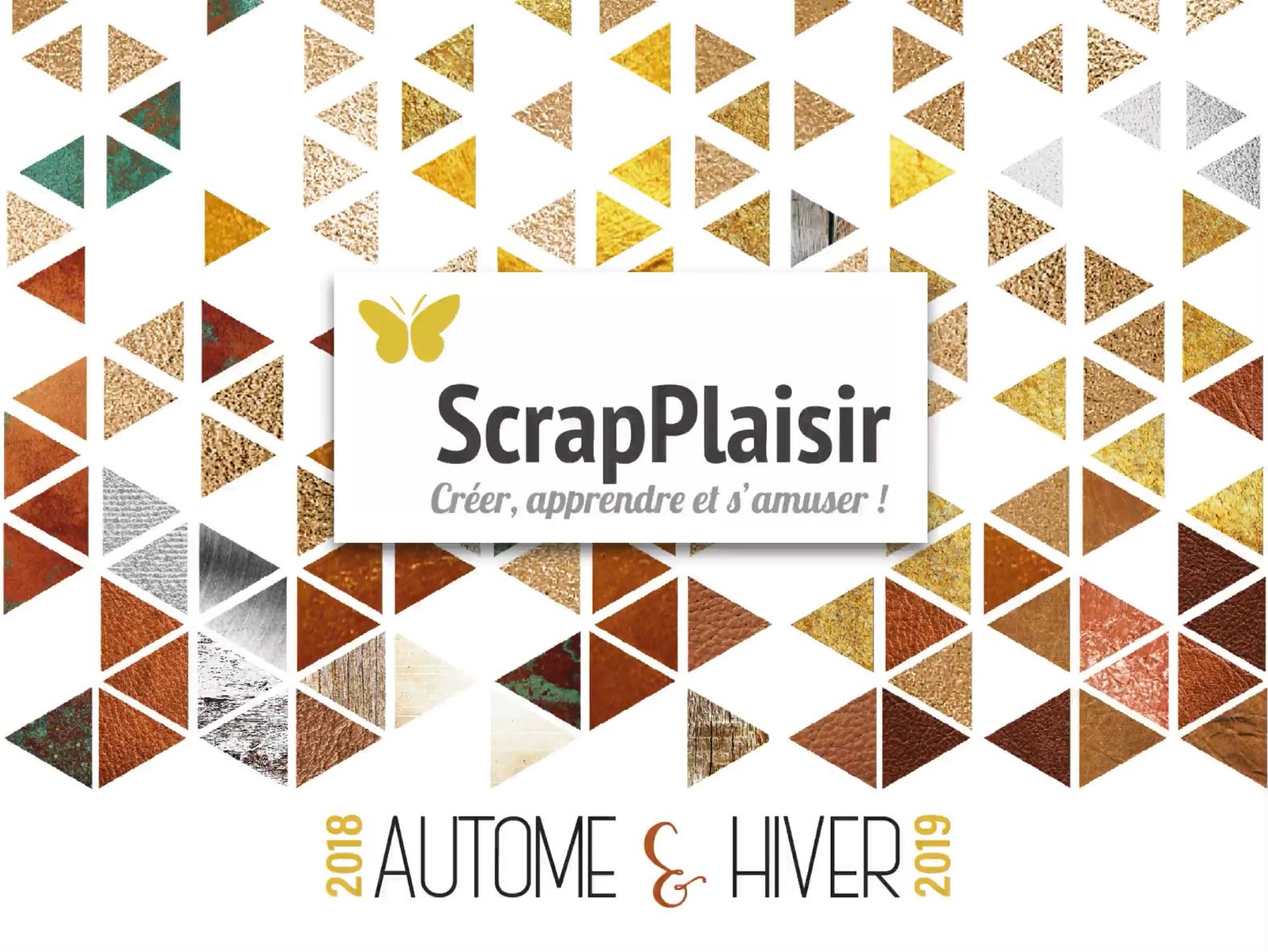 catalogue scrap plaisir saisonnier automne hiver 2018
