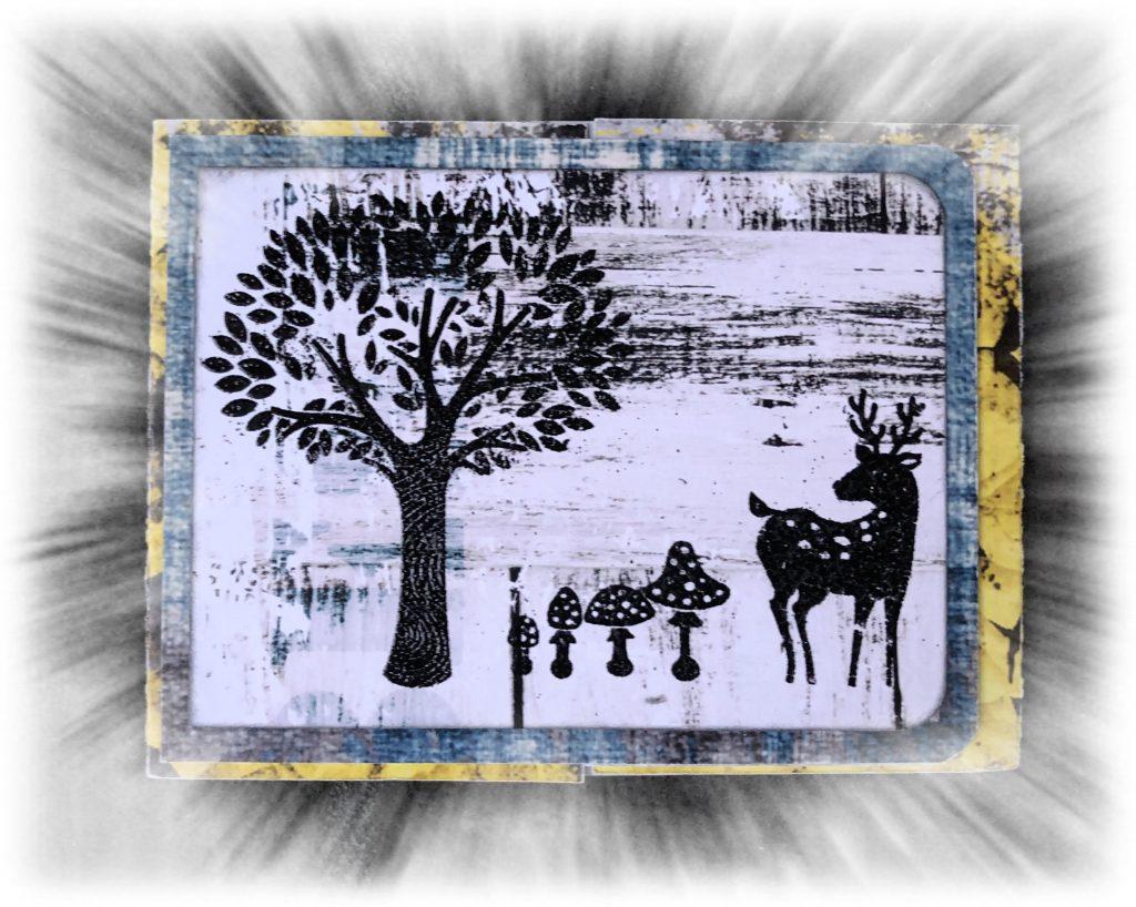 Carte magique scrap-plaisir tampon embossage Noël hiver