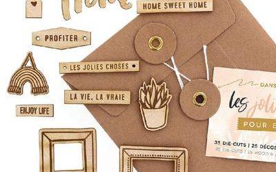 Une boîte créative en bois, remplie des nouveautés Florilèges de juin…c'est par ici